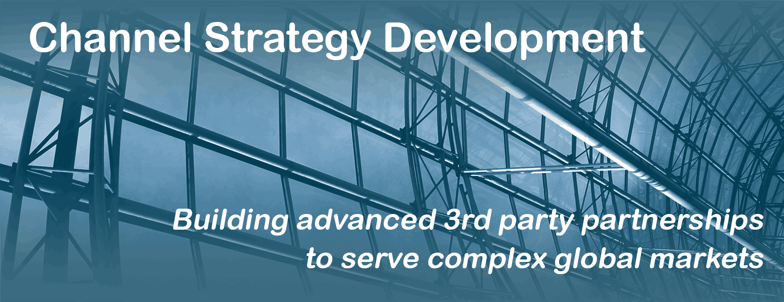 Channel Strategy Development - Building advanced 3rd part partnerships to serve complex global markets